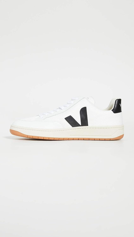 Veja V-12 Sneakers Heren Wit/Zwart Lage Sneakers Shoes WHITE-BLACK