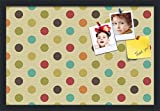 PinPix custom printed pin cork bulletin board made from canvas, 24 x 16 Inches (Completed Size) and framed in Satin Black (PinPix-569)