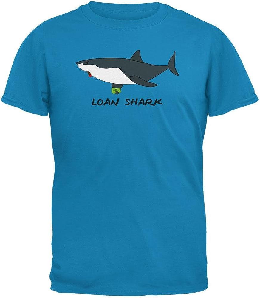 Old Glory Loan Shark Great White Funny Pun Mens T Shirt