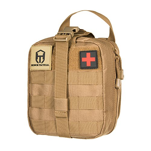Honor Tactical MOLLE Rip-Away EMT Medical First Aid Kit IFAK Utility Pouch ()