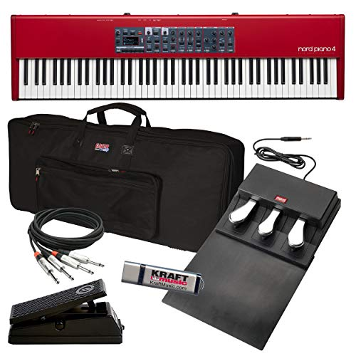 Nord Piano 4 with Gator GKB-88 Slim Gig Bag, Expression Pedal, Audio Cable and Flash Drive