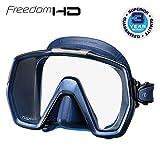 TUSA M-1001 Freedom HD Scuba Diving Mask, Indigo Skirt/Indigo Frame