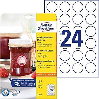 Etiquetas Avery Zweckform 5080 para tarros de mermelada o envases ...