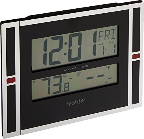 La Crosse Technology 513-149 11 inch Atomic digital wall clock with temperature (Digital Online Wall Clock)