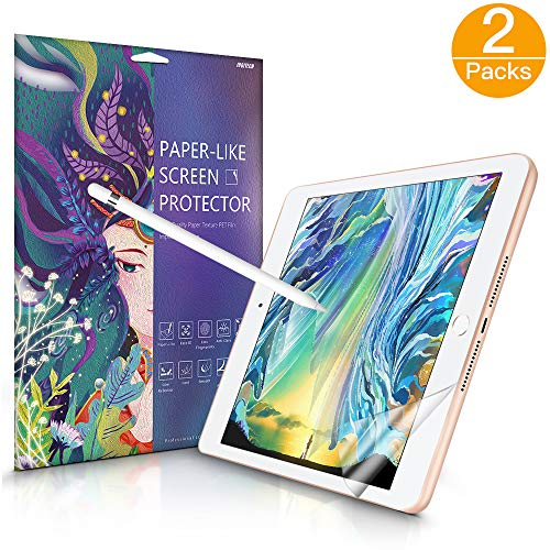 JUQITECH Paperlike Screen Protector 2 Pack iPad Air 3 iPad Pro 10.5 Inches Japanese PET Matte Film Paperlike Paper Texture Feeling Screen Protector High Sensitivity Anti Glare Scratch No Fingerprint