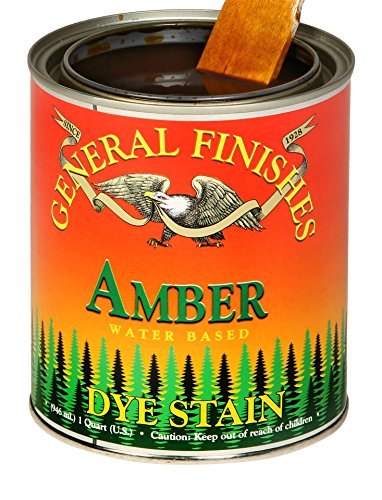 General Finishes DPA Water Based Dye, 1 Pint, Amber