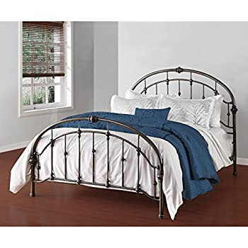 3c3d8545efea5 Amazon.com  White Antique Vintage Metal Bed Frame in Rustic Wrought ...