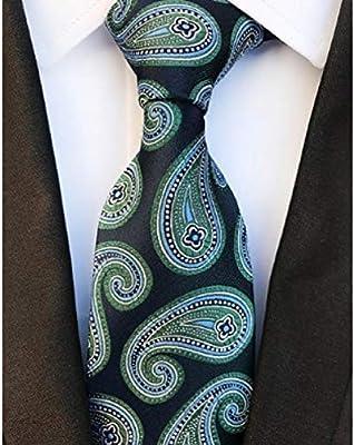 DYDONGWL Corbata Fina Hombre,Corbatas de 8 cm de Color Oscuro para ...