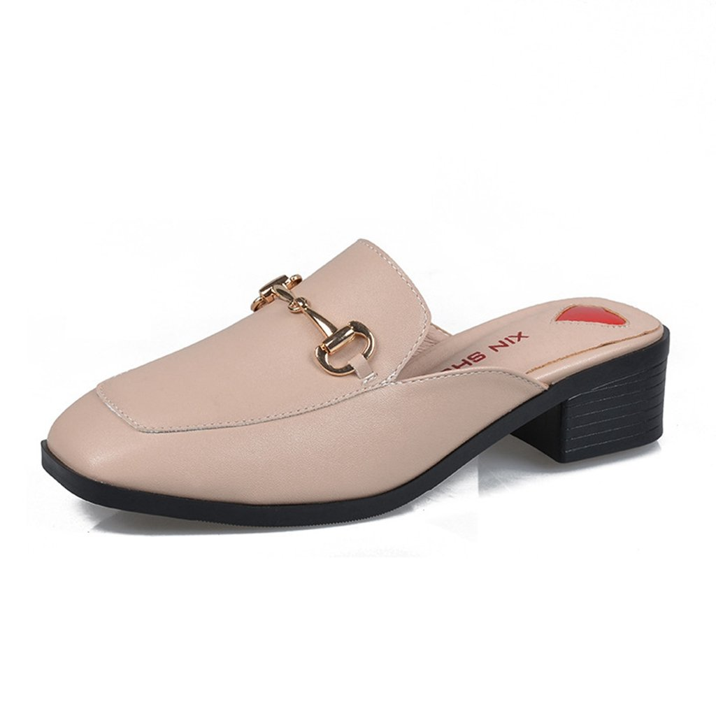 GIY Women Mules Slip On Flats Loafers Round Toe Clogs Low Heels Backless Slide Slipper Shoes