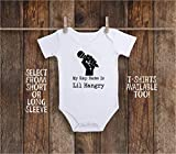 Funny My Rap Name Is Lil Hangry Baby Bodysuit for Hungry Cook, Baking Chef, Music