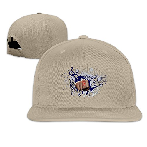 Z-Jane Power Fist Hand Graphic Trucker Hip Hop Cap Baseball Cap Adjustable Snapback Flatbill Natural