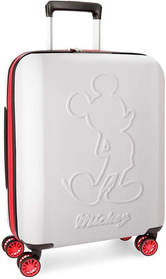 Maleta de cabina Mickey Colored rígida 55cm blanca