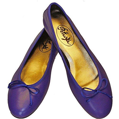 Ballerinas Nice - Nappaleder in Royal Kobalt Blau - klassische spanische Ballerinas