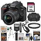 Nikon D3500 Digital SLR Camera & 18-55mm VR DX AF-P Lens with 32GB Card + Case + Flash + Tripod + Kit
