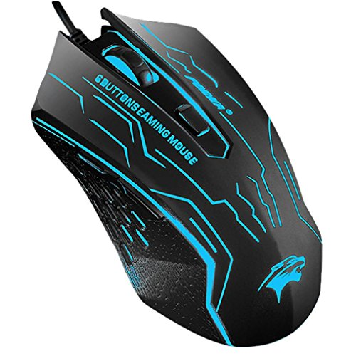 GBSELL 3200 DPI LED Optical 6D USB Wired Gaming Game Mouse For PC Laptop Game
