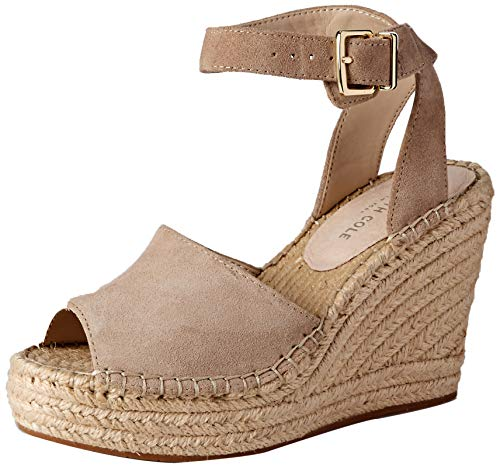 (Kenneth Cole New York Women's Olivia Two Piece Espadrille Wedge Sandal Almond 8.5 M US)