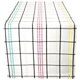 """DII Cotton Table Runner for Spring Wedding, Birthday Party, Baby Shower, Kid's Party, Easter and Everyday Use - 14x72"""", Color Pop Plaid"""