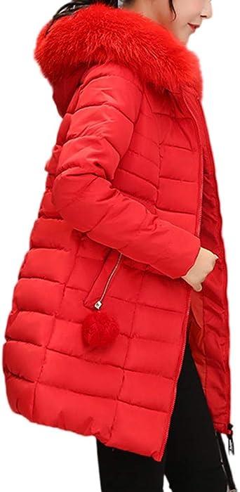Beladla abrigo Mujer Invierno Plumas Abrigo De Plumas para Mujer Largas Chaqueta De Esquí Parka