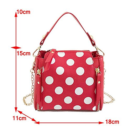 Version Fashion Crossbody Bag Point Wild Korean Chain Bag Olici Handbag Wave Packet Of blue Bucket Bag Satchel 8qAxwd