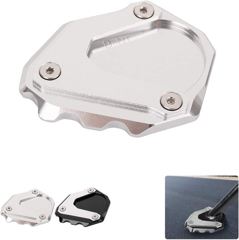 Accessories for BMW Motorcycle Aluminum Kickstand Support Plate Side Stand Foot Extension Pad for R Nine T 2013-2018 Silver