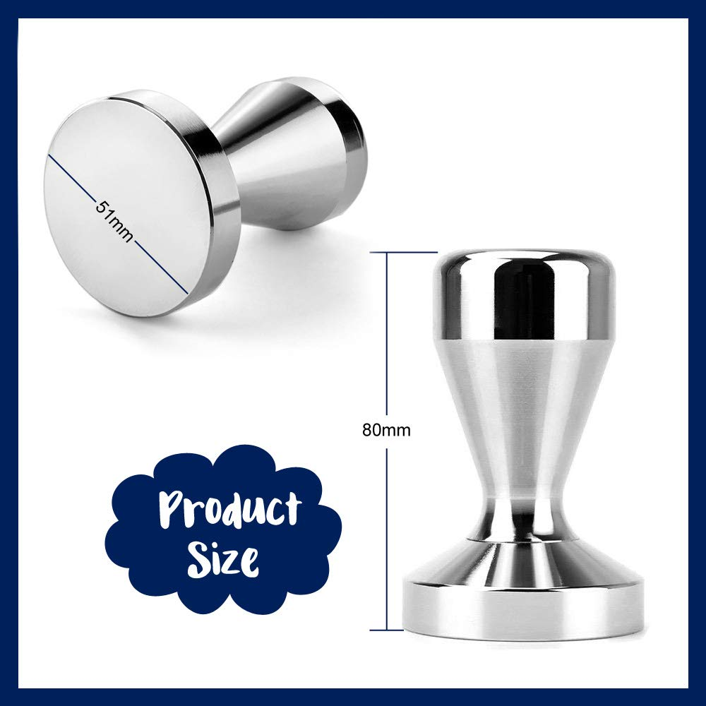 Youdepot Stainless Steel Coffee Tamper Barista Espresso Tamper 51mm Base Coffee Bean Press