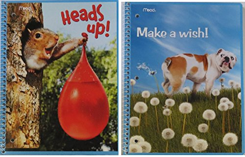 2 Sets of Notebooks Folders with Funny Dog and Squirrel - -
