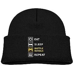 Eat Sleep Battle Royale Repeat Beanie Hat Baby Black
