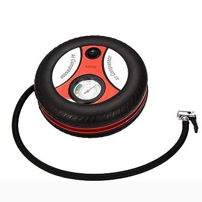 0lwmk0 Compresseur d'air De Voiture Pneu électrique 12v Mini Portable Rond Jardin