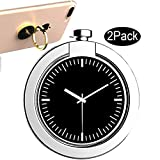 2 Pack Silver CaseHQ Finger Ring Stand, 360 Rotation Thin Universal Phone Ring Holder Kickstand Car...
