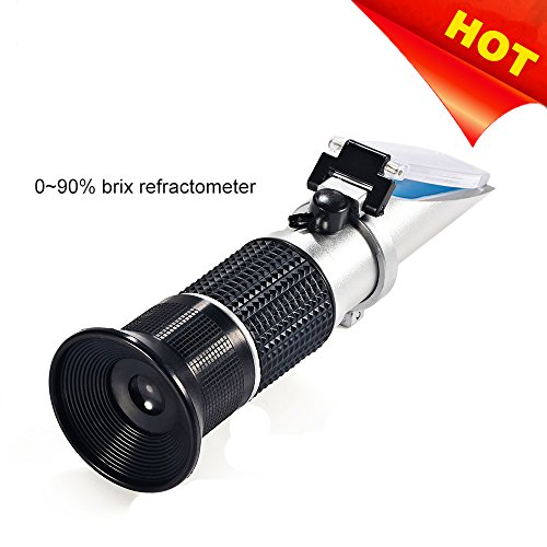 (Brix Refractometer, Honey Refractometer with ATC for Beer Wort, Brix Scale Range 0-90%, Replaces Homebrew)