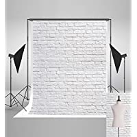 Kate 5x7ft(150x220cm) White Brick Wall Backdrops Photography Brick Floor Photo Studio Backgrounds for Party