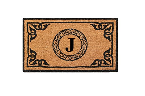 A1 Home Collections PT3006J First Impression Hand Crafted by Artisans Geneva Monogrammed Entry Doormat, 24