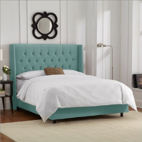 Product reviews buy skyline furniture diamond tufted for Diamond bed frame