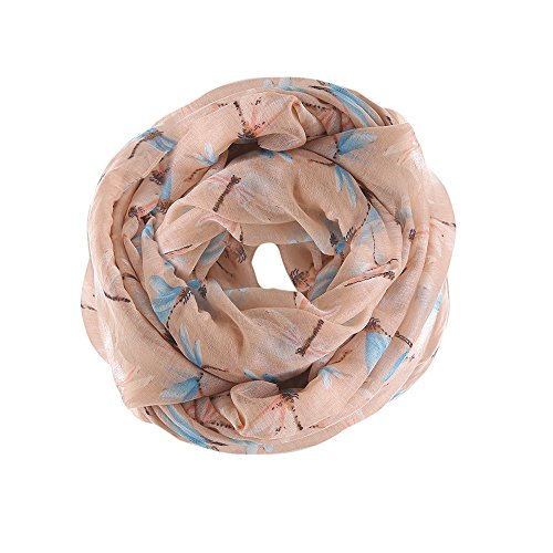 URIBAKE ❤ Autumn Fashion Women's Scarves And Crossbones Pattern Print Voile Ladies' Wrap Shawl Scarf(Brown) (Echo Velvet Circle)