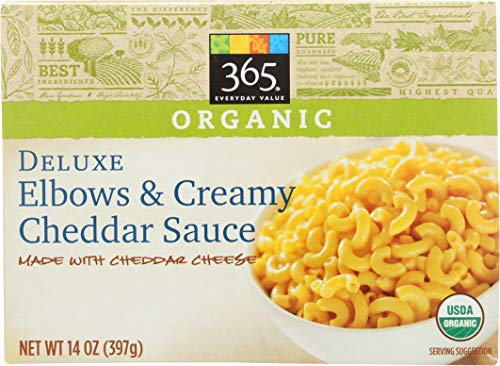 - 365 Everyday Value, Deluxe Elbows & Creamy Cheddar Cheese Sauce, 14 oz