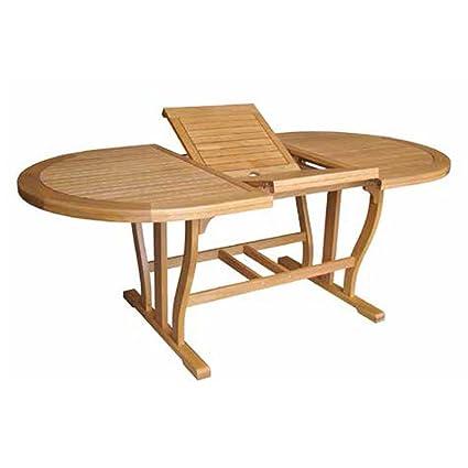 Tavolo legno acacia gold allungabile doppio bordo arredo giardino ...