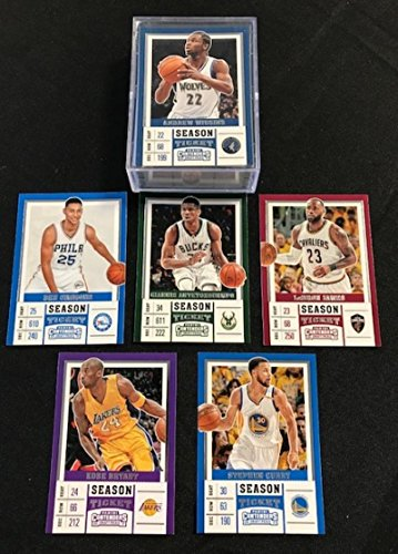 2017-18 Panini Contenders Draft Picks Complete Hand Collated Basketball Set of 50 Cards (Light Jerseys) Includes LeBron James, Simmons, Irving, Giannis Antetokounmpo, Kobe Bryant, Porzingis, Larry Bird, Magic Johnson, Westbrook, ShaquilleO'Neal, Steph Curry, and more.