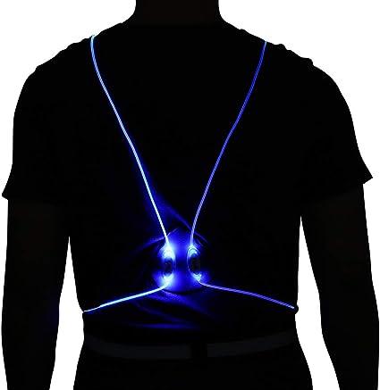 Bodiy Reflective Vest Gear Led Running Light Walking Sport Motorcycle Biking Safty Body Lights Belt for Women and Men