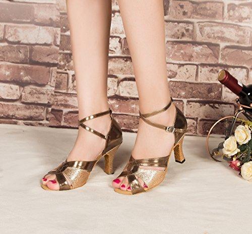 Minitoo Damen Minitoo Tanzschuhe Damen Gold Tanzschuhe Minitoo Gold SwRq7x5