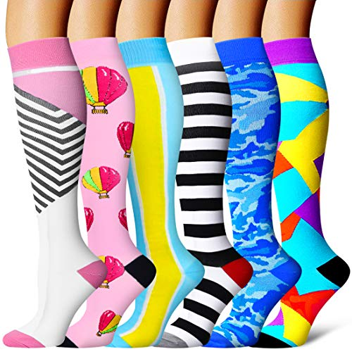 Compression Socks Women 15-20mmhg-Best for Running,Cycling,Sports,Flight Travel,Hiking and Pregnancy