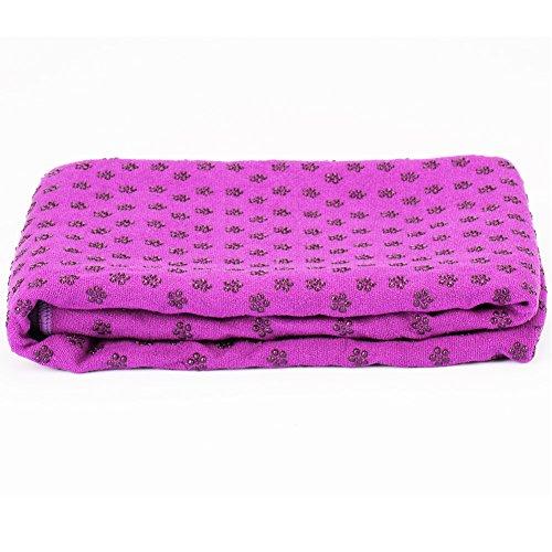 """Yoga Mat Towel Microfiber Hot Yoga Towel Non Slip Sweat Absorbent Super Soft 24"""" x 72"""""""