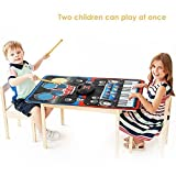 INTEY Musical Mat 2 in 1 Piano Drums Music Jam Playmat with Built-in Speaker Foldable Piano Music Mat