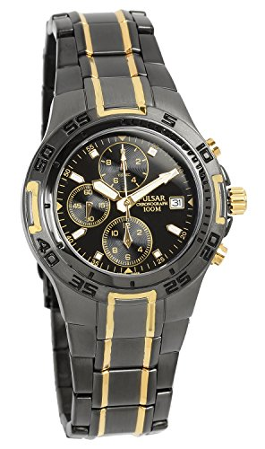 Seiko Pulsar Men's Analog Display Chronograph Date Simple Watch by Seiko Watches