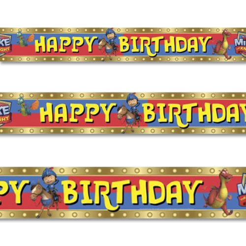 Mike the Knight Happy Birthday Party Character Banner Foil