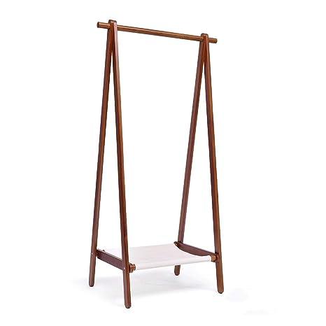 Amazon.com: Hakn - Perchero de madera maciza, lona de lino ...