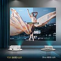 Proyector, YABER 6800 Lúmenes Proyector Full HD 1920x1080P Nativo ...