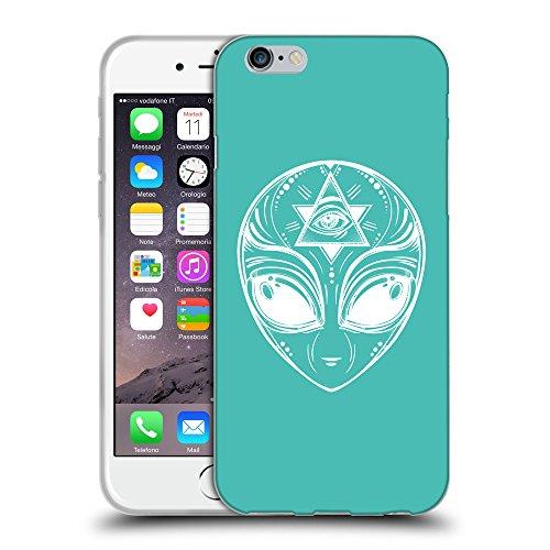 GoGoMobile Coque de Protection TPU Silicone Case pour // Q09010634 extraterrestre 2 Turquoise // Apple iPhone 7