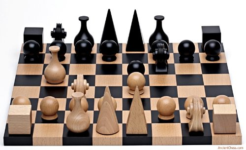 Wood Chess Set By Man Ray Re-edition of ()