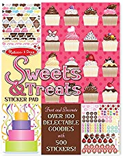 Melissa & Doug Sweets and Treats Sticker Pad - 600 Stickers, 16 Backgrounds