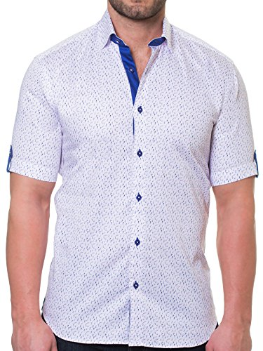 Maceoo Mens Designer Dress Shirt - Stylish & Trendy - Fresh Swimsuit Pink - Tailored Fit by Maceoo